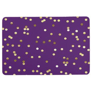 シックな金ゴールドホイルの紙吹雪の紫色 フロアマット