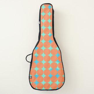 シックな青緑色およびオレンジ水玉模様のギターの箱 ギターケース