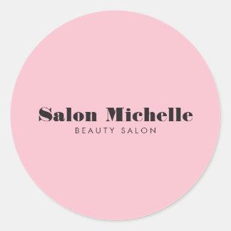 シックな、最小主義のピンクの美容院 ラウンドシール