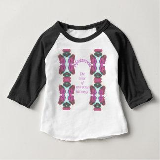 シックな「芸術的な普遍的な調和のマゼンタ色 ベビーTシャツ