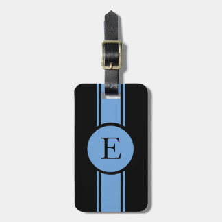 シックなLUGGAGE/BAG TAG_153 BLUE/BLACK/MONOGRAM ラゲッジタグ