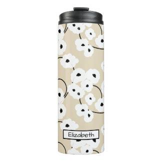 シックなTUMBLER_MODの花の白く及び黒いPOPPIES_DIY! タンブラー