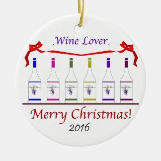 シックなWINE-LOVERSのクリスマス2016年 セラミックオーナメント