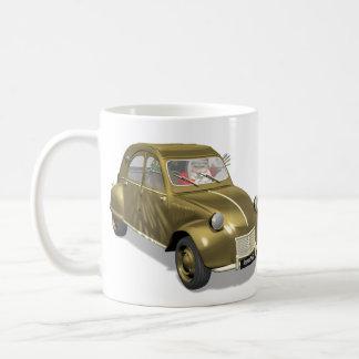 シトロエン2 CVのサンタクロース コーヒーマグカップ