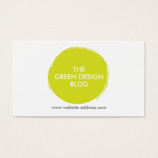 シトロンの緑の色彩の鮮やかな円のロゴ 名刺
