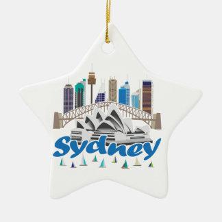 シドニーのスカイライン セラミックオーナメント