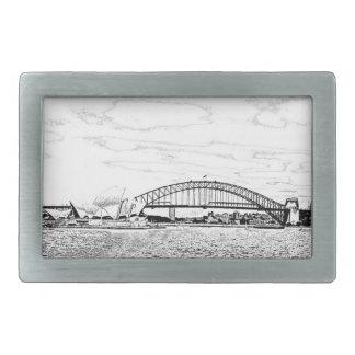シドニーのスカイライン 長方形ベルトバックル