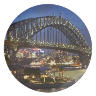 シドニーのハーバーブリッジおよび公園のHyattシドニーのホテル プレート