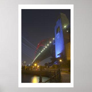 シドニーのハーバーブリッジライトショー ポスター