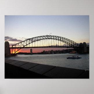 シドニーのハーバーブリッジ ポスター
