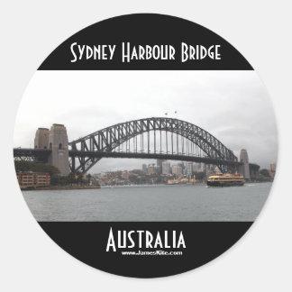 シドニーのハーバーブリッジ ラウンドシール
