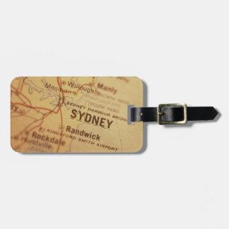シドニーのヴィンテージの地図 ラゲッジタグ