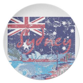シドニーのヴィンテージオーストラリア プレート