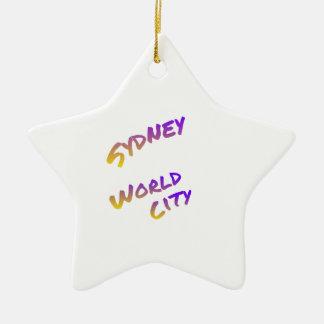 シドニーの世界都市、多彩な文字の芸術 セラミックオーナメント