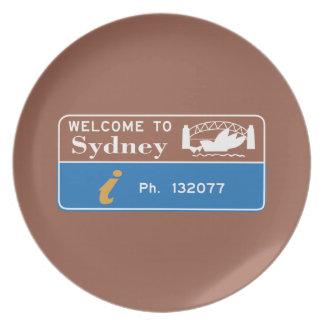 シドニーの印、オーストラリアへの歓迎 プレート