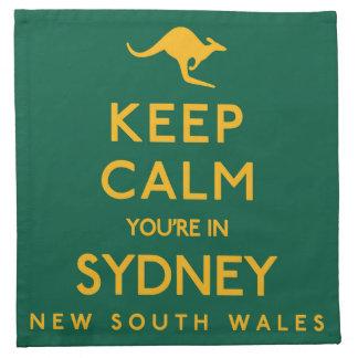 シドニーの平静をあなたは保って下さい! ナプキンクロス