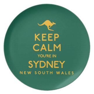 シドニーの平静をあなたは保って下さい! プレート