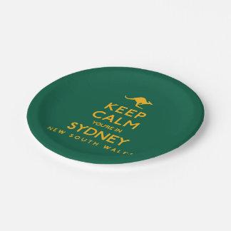 シドニーの平静をあなたは保って下さい! ペーパープレート