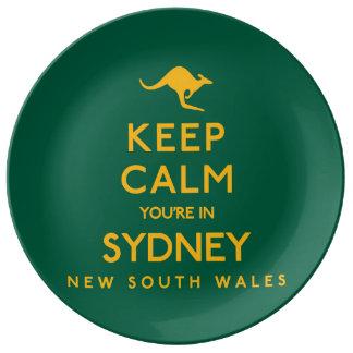 シドニーの平静をあなたは保って下さい! 磁器プレート