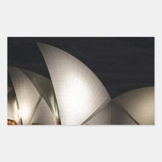 シドニー・オペラハウスオーストラリア 長方形シール
