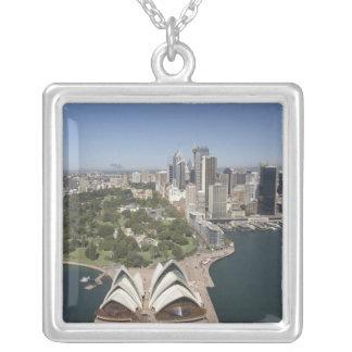 シドニー・オペラハウス、王室のな植物園、CBD シルバープレートネックレス