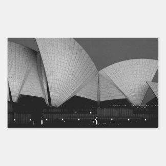 シドニー・オペラハウス 長方形シール