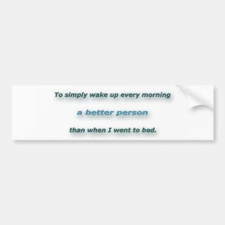 シドニーPoitier著朝の引用文-単に目覚めるため。 バンパーステッカー