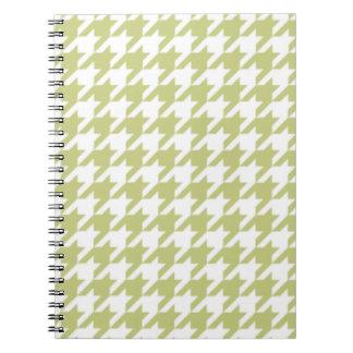 シナノキの緑の千鳥格子のなメモ帳 スパイラルノート