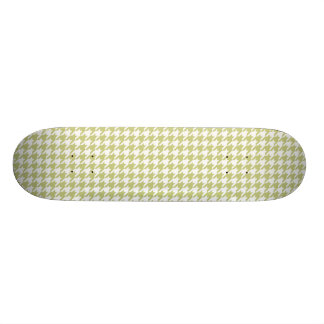 シナノキの緑の千鳥格子の 19.7CM スケートボードデッキ