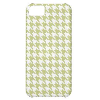 シナノキの緑の千鳥格子の iPhone5Cケース