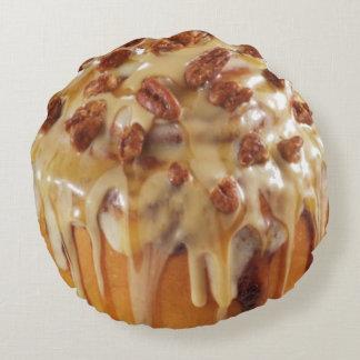 シナモンバン%PIPE%の粘着性があるパンの甘いデザートの枕 ラウンドクッション