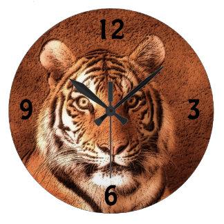 シベリアトラ-柱時計 ラージ壁時計