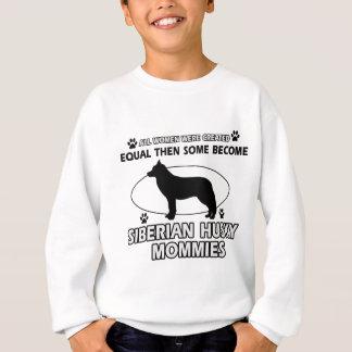 シベリアンハスキーのお母さんのデザイン スウェットシャツ