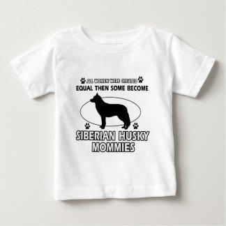 シベリアンハスキーのお母さんのデザイン ベビーTシャツ