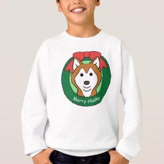 シベリアンハスキーのクリスマス スウェットシャツ