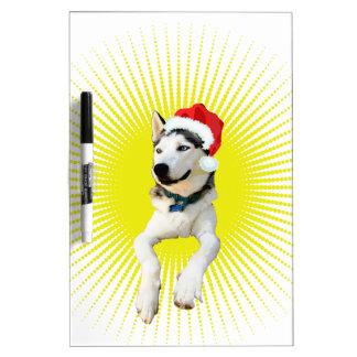 シベリアンハスキーのクリスマス ホワイトボード
