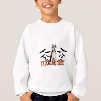 シベリアンハスキーのトリックのTシャツ.png スウェットシャツ