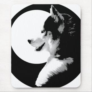 シベリアンハスキーのマウスパッドのギフトのマラミュートのそり犬 マウスパッド