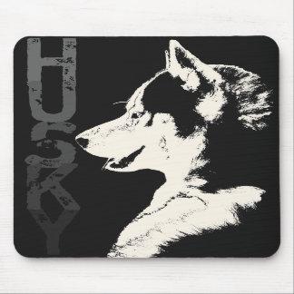 シベリアンハスキーのマウスパッドのギフトのマラミュートのオオカミ犬 マウスパッド