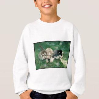 シベリアンハスキーの子犬 スウェットシャツ