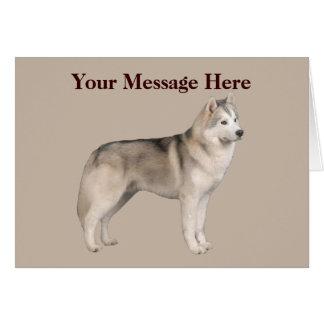 シベリアンハスキーの挨拶状 カード