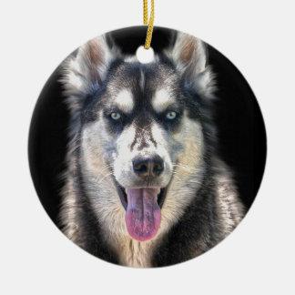 シベリアンハスキーの犬恋人のペットギフトの範囲 セラミックオーナメント