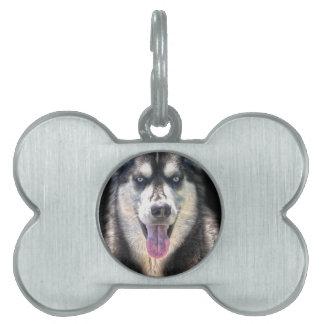 シベリアンハスキーの犬恋人のペットギフトの範囲 ペットネームタグ