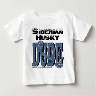 シベリアンハスキーの男 ベビーTシャツ