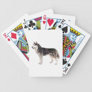 シベリアンハスキー犬のトランプ バイスクルトランプ
