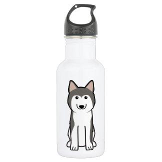 シベリアンハスキー犬の漫画 ウォーターボトル