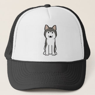シベリアンハスキー犬の漫画 キャップ