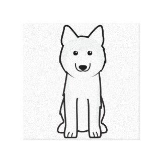 シベリアンハスキー犬の漫画 キャンバスプリント