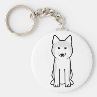 シベリアンハスキー犬の漫画 キーホルダー