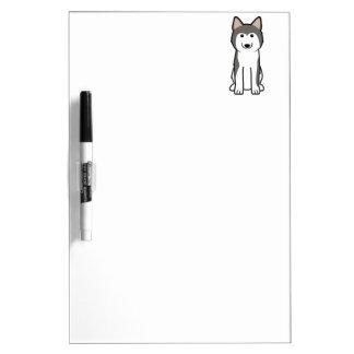 シベリアンハスキー犬の漫画 ホワイトボード